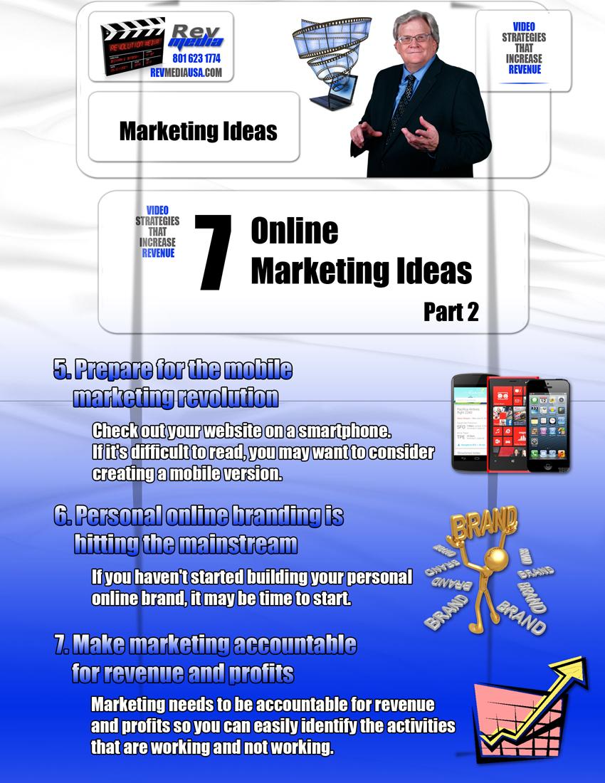 7 Online Marketing Ideas - Part 2, Video Production, Orem Utah