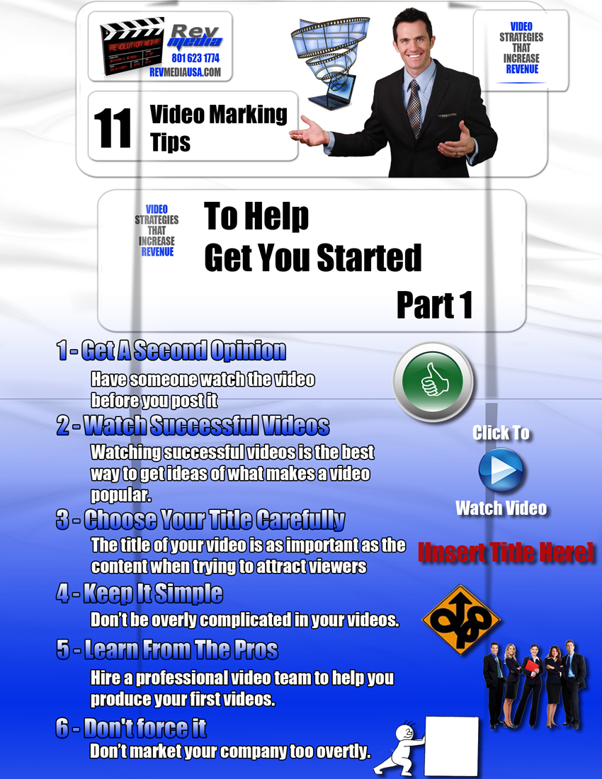 11 Video Marketing Tips to Help Get You Started - Part 1, Video Marketing, Salt Lake Utah