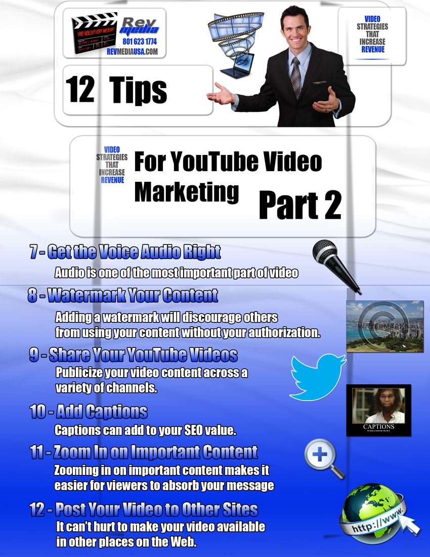 12 Tips for YouTube Video Marketing - Part 2, Video Production, Orem, UT