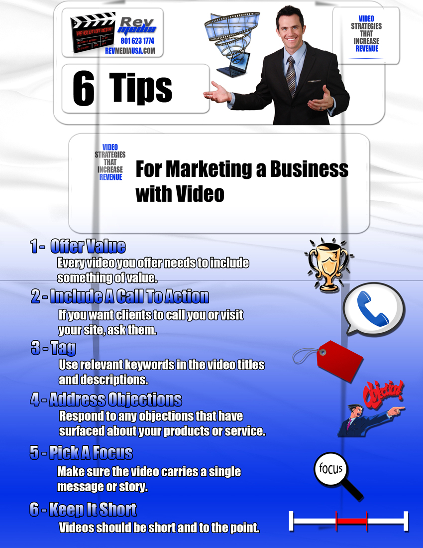 6 Tips for Marketing a Business with Video, Video Marketing, Orem Utah